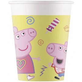 Peppa Gris Pappkopper 8stk (200ml)