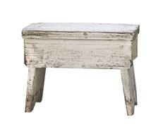 Chic Antique Taburett fransk, Creme