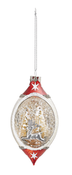 Bloomingville XMAS Ornament Rød Glass Reinsdyr