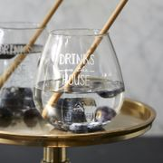 "Riviera Maison Glass_""Drinks on the house"""