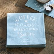 "Riviera Maison Servietter Papir ""Coffee makes.."""