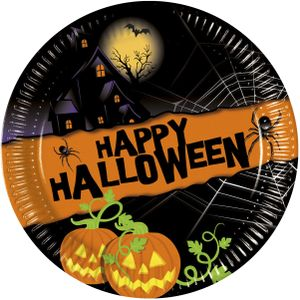 Halloween Papptallerkner,  medium (20 cm) (126-81941)