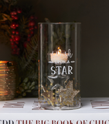 "Riviera Maison XMAS Telysholder_""Wish Upon a Star"""