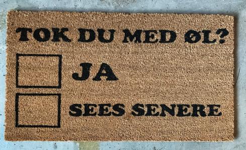 """Trend Design Dørmatte """"Øl"""" (298-584946)"""