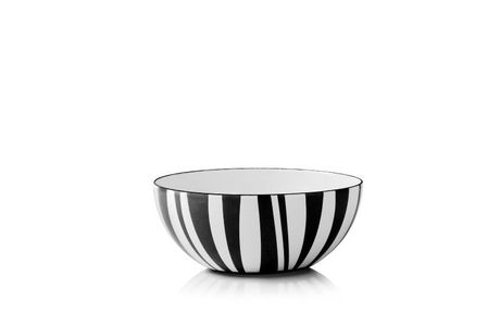 Cathrineholm Stripes Bolle Sort, 14cm (549-100353110)