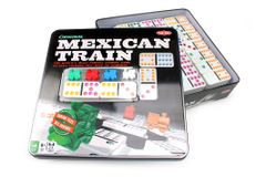 Tactic Mexican Train Dominospill Original Metallboks