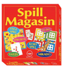 Damm Spillmagasin-eske Stigespill,  Ludo, Yatzy, Kortspill,  Mikado og Spillbok (413-15070)