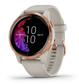 GARMIN Venu Smartklokke Light-Sand/Rose-Gold