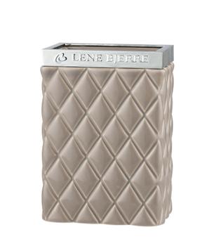 Lene Bjerre Portia Tannbørsteglass Brun H11cm (511-A00006915)