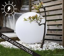 Trend light LED-ball lampe, solcelle+lader, 300mm