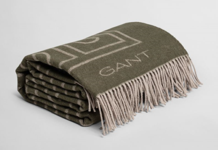 GANT G-Throw Pledd Bomull/ Ullblanding DarkCactus_130x180cm (589-853047402-darkcactus)