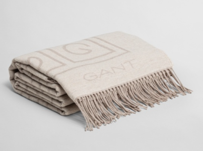 GANT G-Throw Pledd Bomull/ Ullblanding Putty_130x180cm (589-853047402-putty)