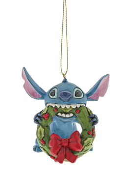 Disney Ornament Stitch m/krans H7cm (481-K2-A30357)