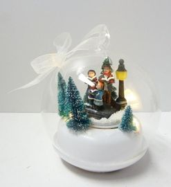 XMAS Collection Julekule Julesangere m/LED-lys H13cm