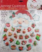 XMAS Collection Adventskalender Pop-Up Klistremerker Santa