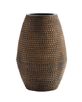 Madam Stoltz Vase Striped Brun H45cm (399-18H356)