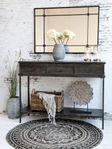 Chic Antique Gulvteppe Sort/ Grå Ø120cm (529-16872-24)