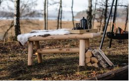 Canadian Outdoor Log Benk Sedertre 120cm