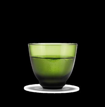 Holmegaard Flow Vannglass 35cl Olivengrønn