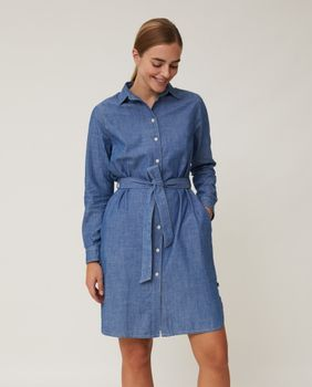 Lexington Isa Kjole Denim Small (588-22111301-blue-s)