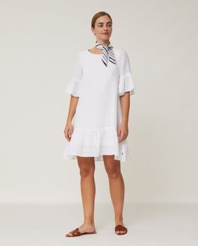 Lexington Camille Kjole Lin Offwhite_X-Small