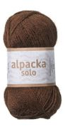 Järbo Garn Alpacka Solo Chocolate-Brown 29105, 50g
