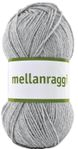 Järbo Garn Mellanraggi Light Gray 28211,  100g (634-28211)