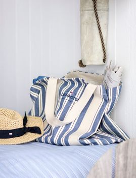 Lexington Beachway Strandveske Striped Blå (588-22113103)
