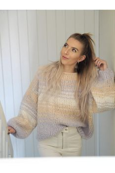 Knit Norway Chunky-Comfy Sweater garn+oppskrift strM