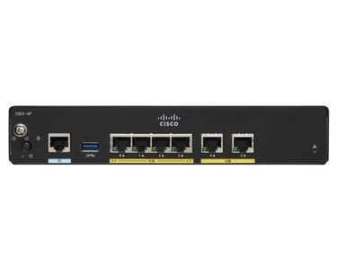 CISCO 927 VDSL2 ADSL2+ over POTs and 1GE SFP Sec Router (C927-4P)
