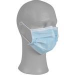 Ansigtsmaske med øreelastikker,  type IIR, Abena Excellent,  3-lags, blå, engangs