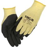 Fingerdyppet latexhandske,  THOR Grip, 6, polyester/ latex,  ribkant