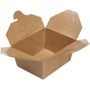 ABENA Take away boks, DoEco, 13x10,5x6,4cm, 600 ml, 275 g/m2, brun, cellulose/kraft