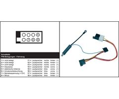 AIV ISO-adapter & ant adapter VW (2000604)