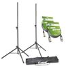 Adam Hall Set of 2 Speaker Stands with Bag and 2 XLR Cables (SPS023SET3)