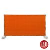 Adam Hall Accessories Fence Panel Gauze type 800 1.76 x 3.41 m, with eyelets, orange (0159 X BAU 8)