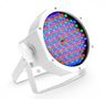 Cameo 144 x 10 mm  FLAT LED RGB PAR Spot light in white housing with IR-remote control capability