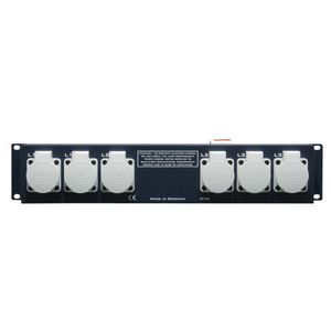 "Adam Hall 19"" Parts 19"" 2U Mains Power Strip with 9 Sockets (87480)"