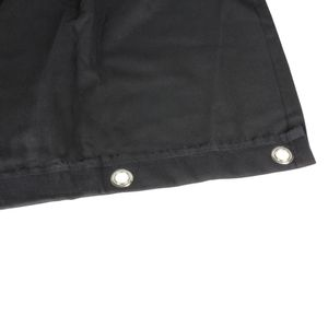 Adam Hall Accessories Blackout cloth B1 black with burnished Grommets hemmed 6 x 3 m (0152 X 63)