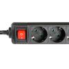 Adam Hall Accessories 3-Outlet Power Strip With On/Off Switch (8747 S 3)