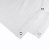 Adam Hall Accessories Blackout cloth B1 white with burnished Grommets hemmed 9 x 3 m (0152 X 93 WH)