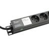"Adam Hall 19"" Parts 19"" 1U Mains Power Strip with 8 Sockets ( French Connectors ) (87478)"