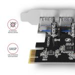 AXAGON PCIe Adapter 4x USB3.0 UASP VIA Factory Sealed (PCEU-430VL)