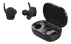 STREETZ True Wireless Stereo stay-in-ear,  dual earbuds, crgcase, black