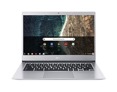 "ACER Chromebook CB514 14"" FHD touch (sølv) Pentium N4200 Quad Core, 8GB RAM, 128GB SSD, Google Chrome OS (NX.H1LED.00B)"