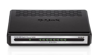 D-Link 8-Ports Gigabit Ethernet Switch 10//100//1000 GO-SW-8GE