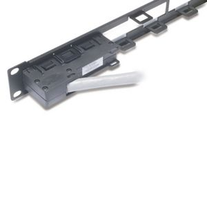 APC Data Distribution 1U Panel, Holds 4 each Data Distribution Cables for a Total of 24 Ports (AR8451)