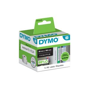 DYMO Lever arch labels 190mm x 38mm / 1 x 110 pcs 99018 (S0722470)