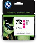 HP 712 3-Pack 29-ml Magenta DesignJet Ink Cartridge (3ED78A)