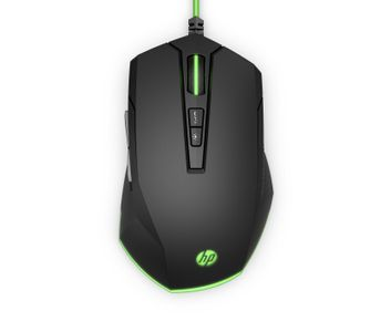 HP Pavilion Gaming Mouse 200, Black/ Green (5JS07AA#ABB)